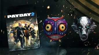 PAYDAY 2 Base Game + Mask of the Moon and Borsuk Masks